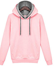 cheap -Women's Cotton Hoodie - Solid Colored / Spring / Fall / Sporty Look