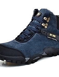Hiking Shoes Men's Sneakers Spring / Fall Comfort Cowhide Casual Flat Heel  Blue / Brown / Yellow / Red