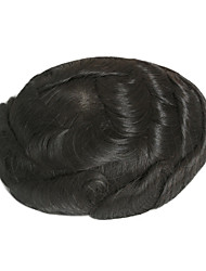Mens Hairpiece Swiss Lace Based Low Density Mens Toupee 6inch*8inch Human Hair Toupee