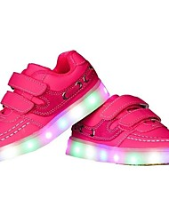 cheap -Girls' Shoes TPU Winter Fall Light Up Shoes Sneakers LED for Casual Outdoor White Black Pink