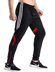 Men's Running Pants Quick Dry Breathable Soft Pants / Trousers Running/Jogging Casual Exercise & Fitness Polyester Slim Gray Red Green