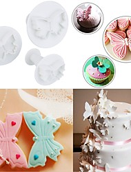 cheap -3 Shapes Butterfly Pigeon Penguin Kitchen 3PCS/Set Fondant Cookie Tools Cake Mold Mould