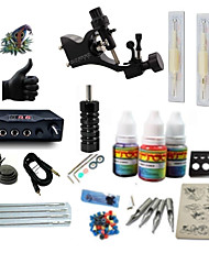 cheap -BaseKey Tattoo Machine Starter Kit - 1 pcs Tattoo Machines with 1 x 5 ml tattoo inks, Professional LCD power supply Case Not Included 1 rotary machine liner & shader