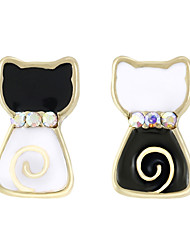 cheap -Women's Stud Earrings Jewelry Natural Mismatch Alloy Animal Shape Cat Jewelry For Christmas