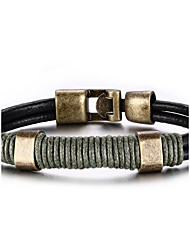 cheap -Men's Women's Leather Bracelet Hip-Hop Rock Leather Titanium Steel Line Jewelry For Party Birthday Gift Evening Party