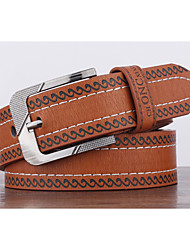 cheap -Men's Alloy Waist Belt,Pattern Print Retro