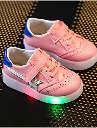 cheap -Girls' Shoes Synthetic Summer Fall Light Up Shoes Comfort Sneakers LED Hook & Loop Gore for Casual Party & Evening White Red Pink