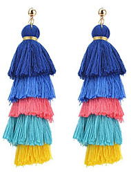 cheap -Women's Drop Earrings Tassel Bohemian Cloth Alloy Jewelry For Party Going out