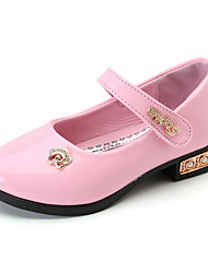 Girls' Shoes Synthetic Summer Fall Moccasin Comfort Flower Girl Shoes Loafers & Slip-Ons Flower For Party & Evening Dress Blushing Pink