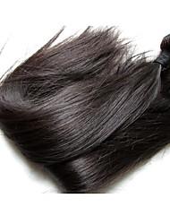 natural best brazilian straight virgin hair bundles weaves 4pieces 400g lot deal 100% original human hair material made silver silk smooth texture