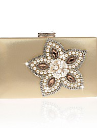 cheap -Women's Bags PU Evening Bag Flower for Event/Party All Seasons Gold Black Silver Red Fuchsia