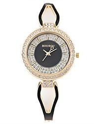 Mulheres Crianças Relógio de Moda Relógio de Pulso Bracele Relógio Único Criativo relógio Relógio Madeira Chinês Quartzo Impermeável Aço