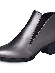 preiswerte -Damen Schuhe PU Frühling Herbst Pumps Springerstiefel Stiefel Blockabsatz Runde Zehe Booties / Stiefeletten für Kleid Büro & Karriere