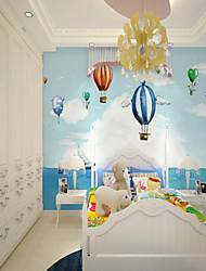 abordables -3D Balloon Bande dessinée Décoration d'intérieur Mignon style pastoral Moderne/Contemporain Revêtement, Toile Matériel adhésif requis
