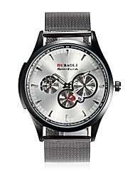 JUBAOLI Men's Fashion Watch Wrist watch Chinese Quartz Calendar Large Dial Stainless Steel Alloy Band Cool Black