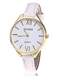 cheap -Women's Dress Watch Fashion Watch Wrist watch Chinese Quartz Calendar / date / day Large Dial PU Band Charm Casual Bohemian Elegant Black