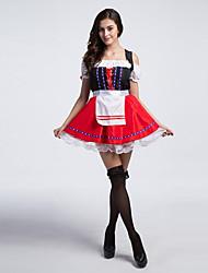 baratos -Ternos de Empregadas Fantasias de Cosplay Natal Dia Das Bruxas Carnaval Oktoberfest Ano Novo Festival / Celebração Trajes da Noite das