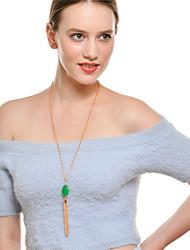 economico -Per donna Circolare Elegant Collane con ciondolo Collane a catena Smeraldo sintetico Smeraldo Lega Collane con ciondolo Collane a catena ,