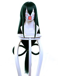cheap -Synthetic Hair Wigs Straight Capless Cosplay Wig Very Long Green