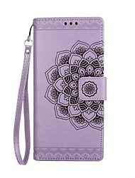 Case For Samsung Galaxy Note 8 Wallet Card Holder Flip Embossed Pattern Full Body Mandala Flower Hard PU Leather for Note 8