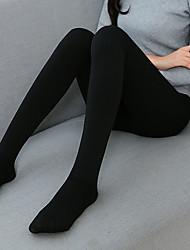 Недорогие -Жен. Однотонный Средняя Один цвет Леггинсы Черный Бежевый Серый