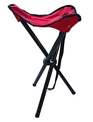 cheap -Camping Stool / Camping Folding Chair / Beach Chair Outdoor Anti-Slip, Wearable Metalic, PVC for Fishing / Camping - 1 person Fuchsia