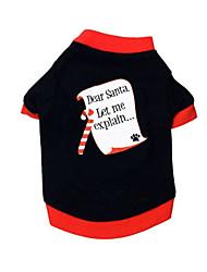 Chien Tee-shirt Vêtements pour Chien Décontracté / Quotidien Formes Géométriques Noir Costume Pour les animaux domestiques
