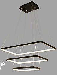 dimmable led ciondolo moderna / comtemporary bianco nero in stile alluminio soggiorno sala da pranzo sala ufficio con telecomando