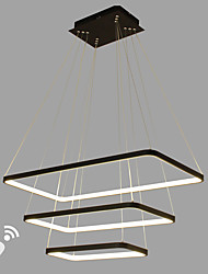 dimmable led pendant light modern / comtemporary black white feature алюминиевая гостиная столовая офисная комната с пультом