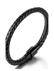 abordables -Hombre Geométrico Brazaletes / Pulseras de puño - Titanio Acero Estilo Simple, Moda Pulseras y Brazaletes Negro Para Diario / Casual