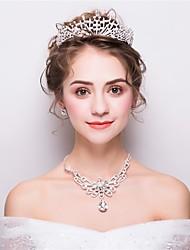 cheap -Women's Rhinestone Fashion Wedding Evening Party Rhinestone Alloy Hair Jewelry Necklace Earrings