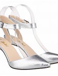 Damen Schuhe PU Sommer Pumps High Heels Stöckelabsatz Spitze Zehe Für Kleid Gold Schwarz Silber