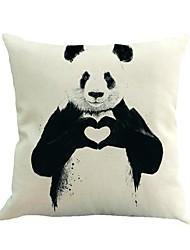 1 Pcs Panda Heart Pillow Cover Creative Cotton/Linen Pillow Case Sofa Cushion Cover