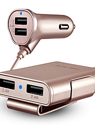 cheap -Car Charger USB Charger Universal Fast Charge 4 USB Ports 4.8 A DC 12V-24V