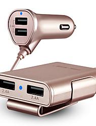 abordables -Chargeur pour auto Chargeur USB Universel Charge Rapide 4 Ports USB 4.8 A DC 12V-24V