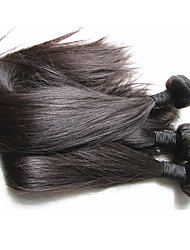 top grade brazilian virgin hair silk straight 3bundles 300g lot for one head best human hair material made natural black color hair texture