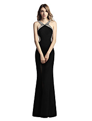 cheap -Mermaid / Trumpet Straps Floor Length Jersey Prom Formal Evening Dress with Beading by Sarahbridal