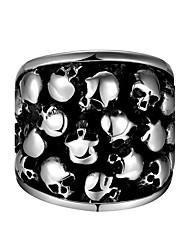 Herrn Knöchel-Ring Schmuck Punkstil individualisiert Edelstahl Geometrische Form Totenkopfform Schmuck Für Halloween Strasse