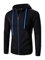 Men's Plus Size Plus Size Casual/Daily Simple Vintage Active Hoodie Solid Hooded Micro-elastic Cotton Polyester Long Sleeve Winter