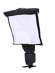 fotografía portátil multifunción difusor de flash caja suave reflector snoot para dslr flash speedlite