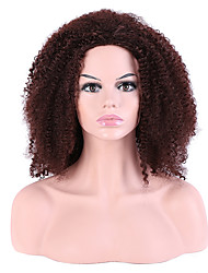 Women Synthetic Wig Capless Long Afro Jheri Curl Brown For Black Women Layered Haircut Party Wig Halloween Wig Natural Wig Costume Wigs