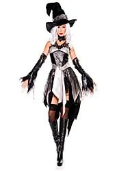 abordables -Sorcière Costume de Cosplay Halloween Fête / Célébration Déguisement d'Halloween Noir Mode
