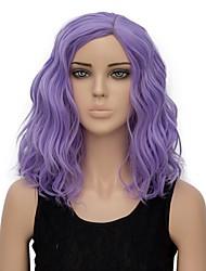 Недорогие -Парики из искусственных волос Волнистые Искусственные волосы Фиолетовый Парик Жен. Короткие Без шапочки-основы Фиолетовый