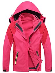 cheap -Women's Hiking Jacket Outdoor Winter Windproof Rain-Proof Wearable Breathability 3-in-1 Jacket Full Length Visible Zipper Camping /