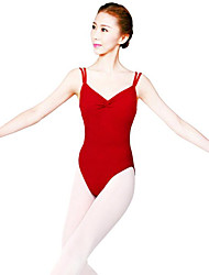 cheap -Ballet Women's Performance Nylon 1 Piece Sleeveless Natural Leotard