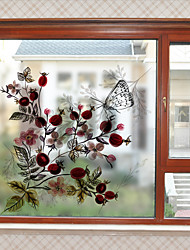 cheap -Floral Window Sticker,PVC/Vinyl Material Window Decoration