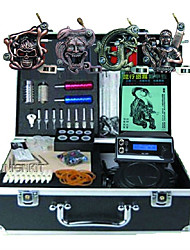 Complete Tattoo Kit 4 alloy machine liner & shader 3 Tattoo Machines LED power supply Inks Shipped Separately