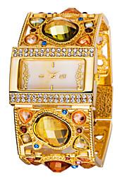 cheap -ASJ Women's Quartz Wrist Watch Japanese Rhinestone Metal Band Vintage Fashion Black Silver Gold