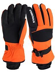 baratos -Luvas de Esqui Homens Dedo Total Manter Quente Protecção Tecido Algodão Esportes de Neve Inverno
