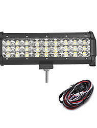 81W 8100LM 6000K 3-Rows LED Work Light Cool White Combo Offroad Driving Light for Car/Boat/Headlight IP68 9-32V  2m 1-To-1 Wiring Harness Kit